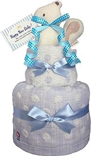 おむつケーキのKanonBaby's オーガニック 出産祝い 人気 男の子 マスコットガラガラ 今治タオル ガーゼ 赤ちゃん 内祝い 誕生日プレゼント ギフトセット (パンパースS20 (出産祝い用に)) 自宅へ送付