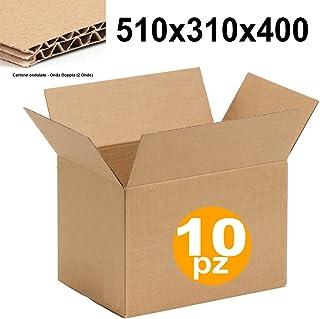 IMBALLAGGI 2000 Imballaggi per Spedizione e Trasloco 35x25x25 cm 5 Pezzi Scatola di Cartone Doppia Onda