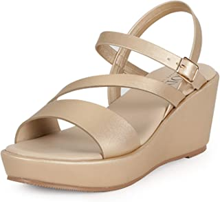 Mode by Red Tape Women's Mrl2107 Wedge Sandal