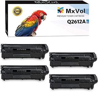 MVtoner Compatible HP 12A Q2612A Canon 104 Toner Cartridge use for HP Laserjet 1010 1012 1015 1018 1020 1022 Canon FAX-L100 L140 L120 MF4150 Series Printers (Black, 4-Pack)