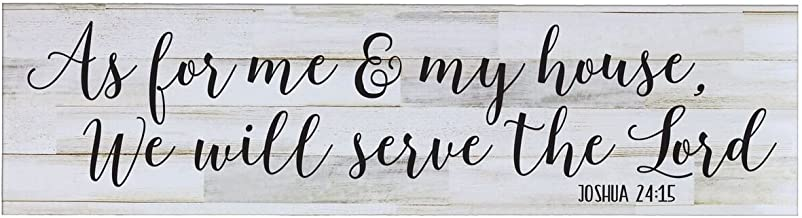 LifeSong Milestones Sign for livingroom entryway Kitchen Bedroom Wall Art Decor Print (As for Me and My House)