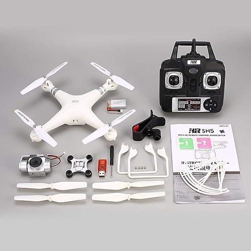 los clientes primero GreatWall SH5HD 1080P - Cuadricóptero Cuadricóptero Cuadricóptero por radiocontrol (Gran Angular, Ajustable, FPV), Color blanco  precios bajos