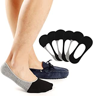 Low No Show Socks Men Invisible Non Slip Liner Socks Casual Footies for Loafer Boats