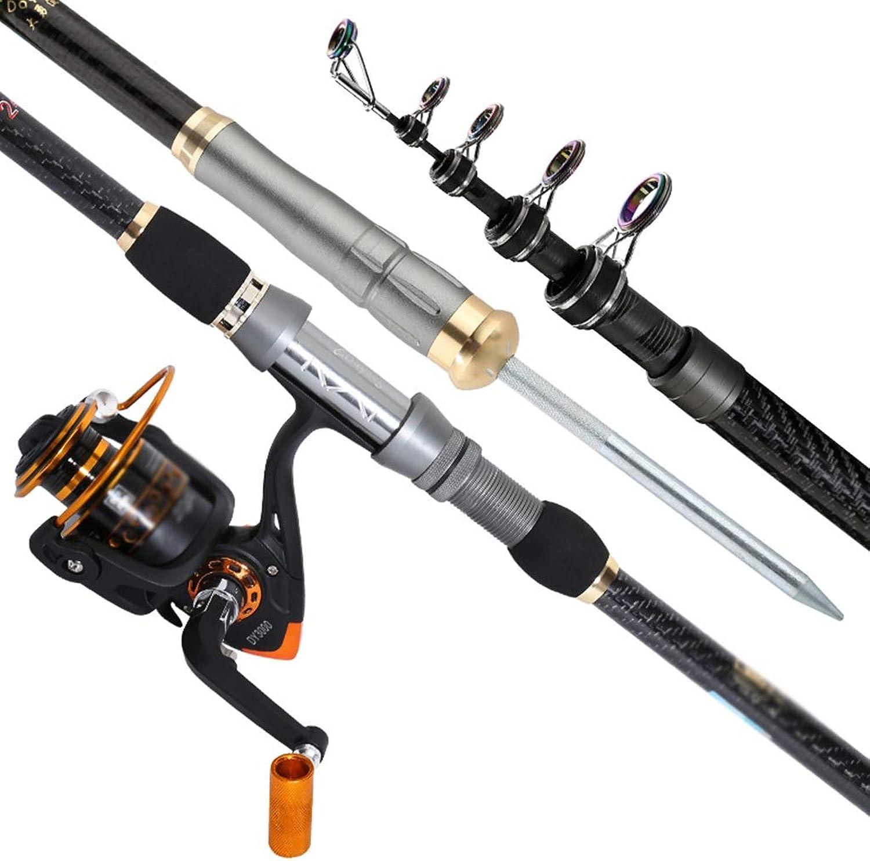 Angelrute Carbon Mini Sea Rod Tragbare Einziehbare Fanggerte Plus Angelradsatz