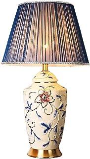 Lampe de Table américaine Salon Lampe de Table Basse Chambre Chevet Lampe en céramique rétro Moderne atmosphère Minimalist...