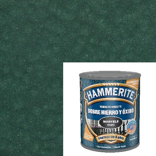 Esmalte Antioxidante Verde Marca MARTELE Directo sobre Hierro y Óxido.