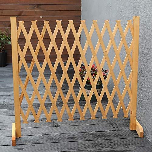 Erweiterender Holzzaun, freistehender Holzgarten Gitter, einziehbarer Gitterzäune-Gate-Barriere-Sektion for Gärtner und Tierbesitzer (Size : H90CM)
