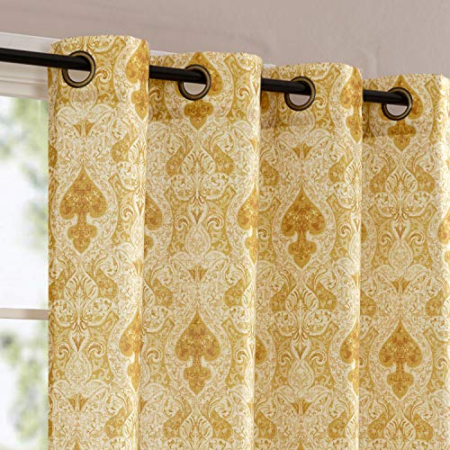 Flax Medallion Curtain Panels For Bedroo Buy Online In Kuwait At Desertcart