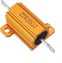 Electronic Module 25W 20R 20RJ Metal Aluminum Case High Power Resistor Golden Metal Shell Case Heatsink Resistance Resisto...