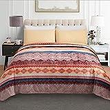 JML Luxury Flannel Fleece Blanket - Printed Warm Fuzzy Ultra Plush Lightweight Couch Bed Blanket All Season King Size