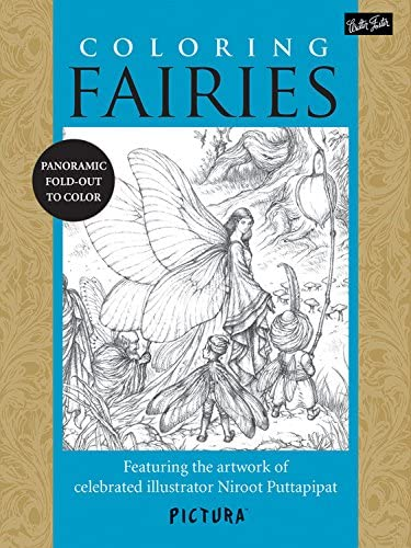 Coloring Fairies Featuring the artwork of celebrated illustrator Niroot Puttapipat PicturaTM product image