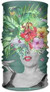 FAFANIQ Comic Girl Headwear For Men And Women-Yoga Sports Travel Workout Wide Headbands,Neck Gaiter,Bandana,Helmet Liner,Balaclava,Hair Turban,Scarf