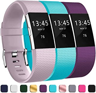 GEAK Bands for Fitbit Charge 2, Adjustable Replacement Classic Wrist Replacement for Fitbit Charge 2 Bands, 3 Pack