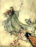 Laminated 24x32 inches Poster: Vintage Book Illustration Literature Shakespeare Midsummer Nights Dream Arthur Rackham Fantasy Fairy Tale Old Antique Victorian Story Scene People Women