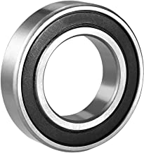 uxcell 6007-2RS Deep Groove Ball Bearing Double Sealed 180107, 35mm x 62mm x 14mm Chrome Steel Bearings, 1-Pack