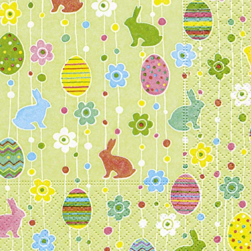 20 Servietten Osterhase Ostereier Ostern Happy Easter