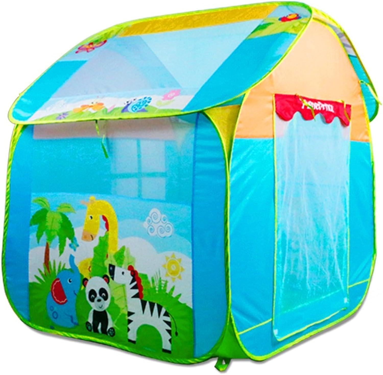 en stock Jun Tienda de Juegos para Niños Juego Plegable Interior Interior Interior Casa Turismo Exterior para Casas Grandes (Embalaje Azul, Amarillo de 1) (Color   azul A)  nueva marca