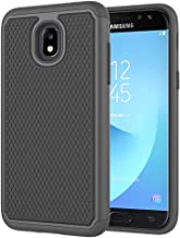 ASMART Galaxy J7 2018 Case,Galaxy J7 Refine Case,Galaxy J7 Star Case,Galaxy J7 Crown Case,Galaxy J7 V 2nd Gen Case,J7 Aura Case, Defender Cover Protective Phone Case for Samsung Galaxy J7V 2018,Black