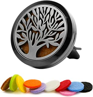 Aromatheraply Essential Oil Car Diffuser Stainless Steel Locket - Tree of Life