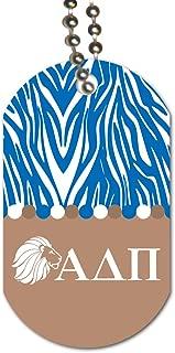 VictoryStore Dog Tag - Alpha Delta Pi Dog Tag - Zebra Stripes Design - Set of 3