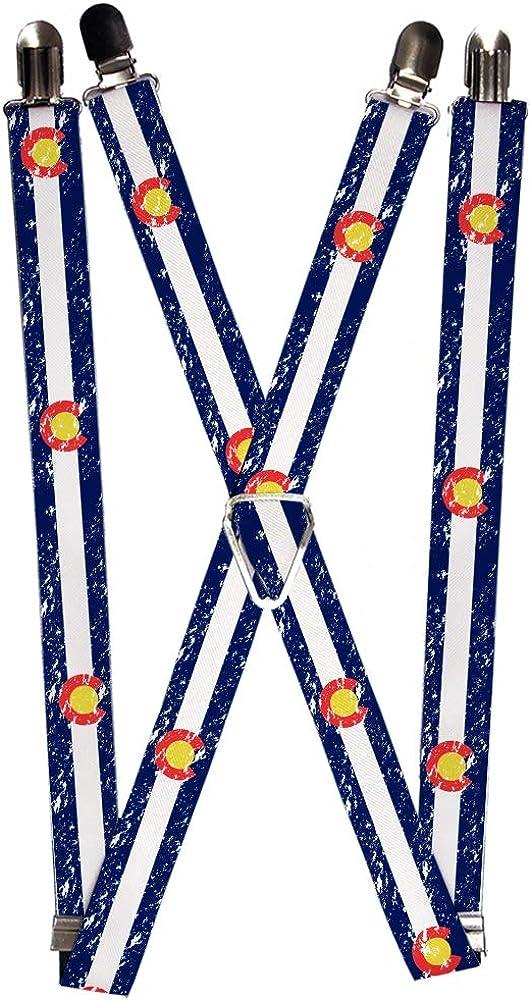 Buckle-Down Men's Suspender-Colorado, Multicolor, One Size