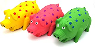 9 in. Goblets Pig Latex Dog Toy Assorted Colors (3 Pack)