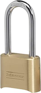 Master Lock 175DLHAU 51mm Wide Resettable Combination Brass Padlock with 57mm Shackle