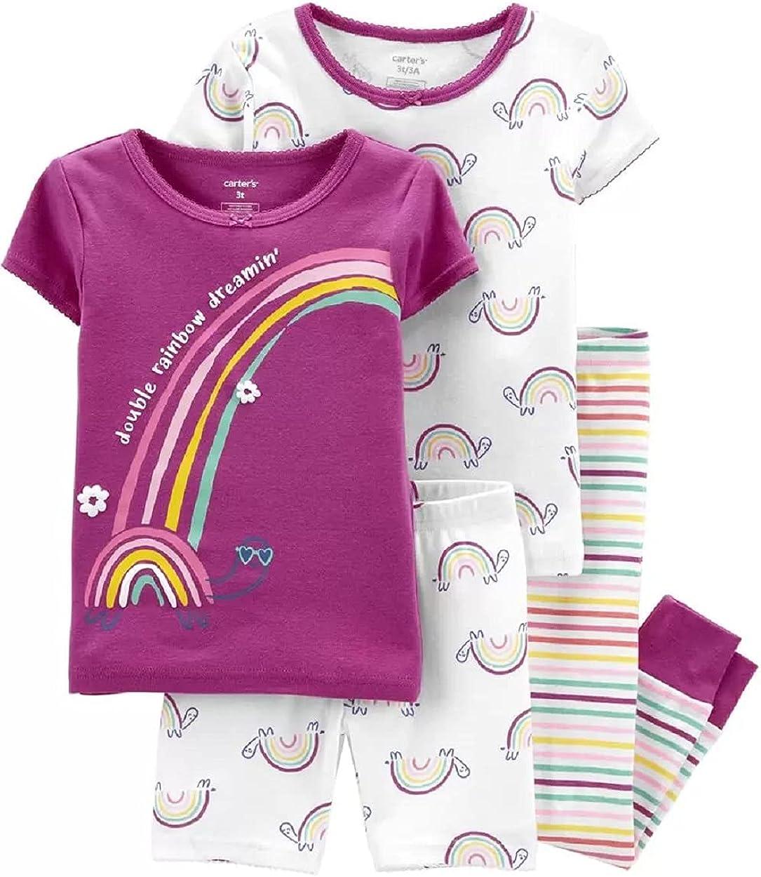 Carter's 4-Piece Rainbow 100% Snug Fit Cotton PJs