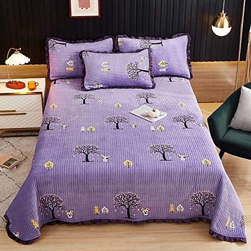 Yhkj Funda de almohada de felpa, colcha antideslizante para invierno, funda de almohada de cama, funda de almohada de cubierta de kang, plegable