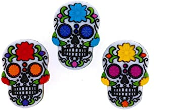 sugar skull sewing buttons