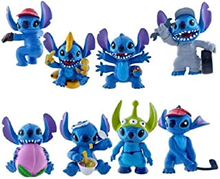 ATII Lilo & Stitch Mini Figures for Cake Topper Room Decor and Kids' Playing (8 PCS)