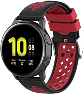 Fit for Samsung Galaxy Watch Active 2 40mm/ 44mm Watch Bands, Garmin Vivoactive 3 Music Bands, 20mm Quick Release Silicone...