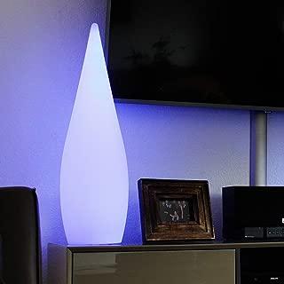 Leco Akku LED Terrassen Stehlampe 145cm Farbwechsel Stehlampe Garten Retro Lampe