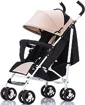 XXW Cochecito De Bebé Portátil Plegable Paraguas para niños Sillas de Paseo Sentado y recostado 0-3 años de Edad Cochecito de bebé Sillón de bebé Carro (Color : Khaki)