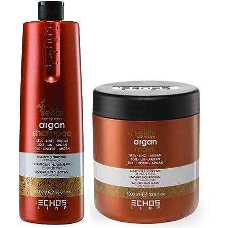 Kit Nutriente Seliar Argan - Shampoo 1000 ml + Maschera 1000 ml - EchosLine