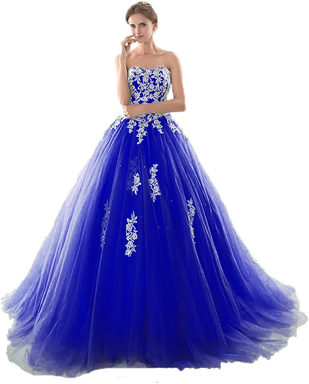 Anna's Bridal Women's Appliques Long Quinceanera Dresses Ball Gowns 2019 Prom Dress