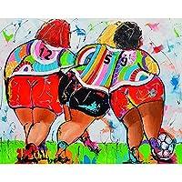 セクシーな10代の太った女性の肖像画﹣Diy 5D ダイヤモンドペインティン﹣手作り絵画手芸キット﹣工作 制作 大人 デザイン オシャレ﹣40X50Cm(フレームレス)