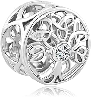 Celtic Knot Charms Filigree Family Tree of Life Charm Beads for Snake Chain Bracelet