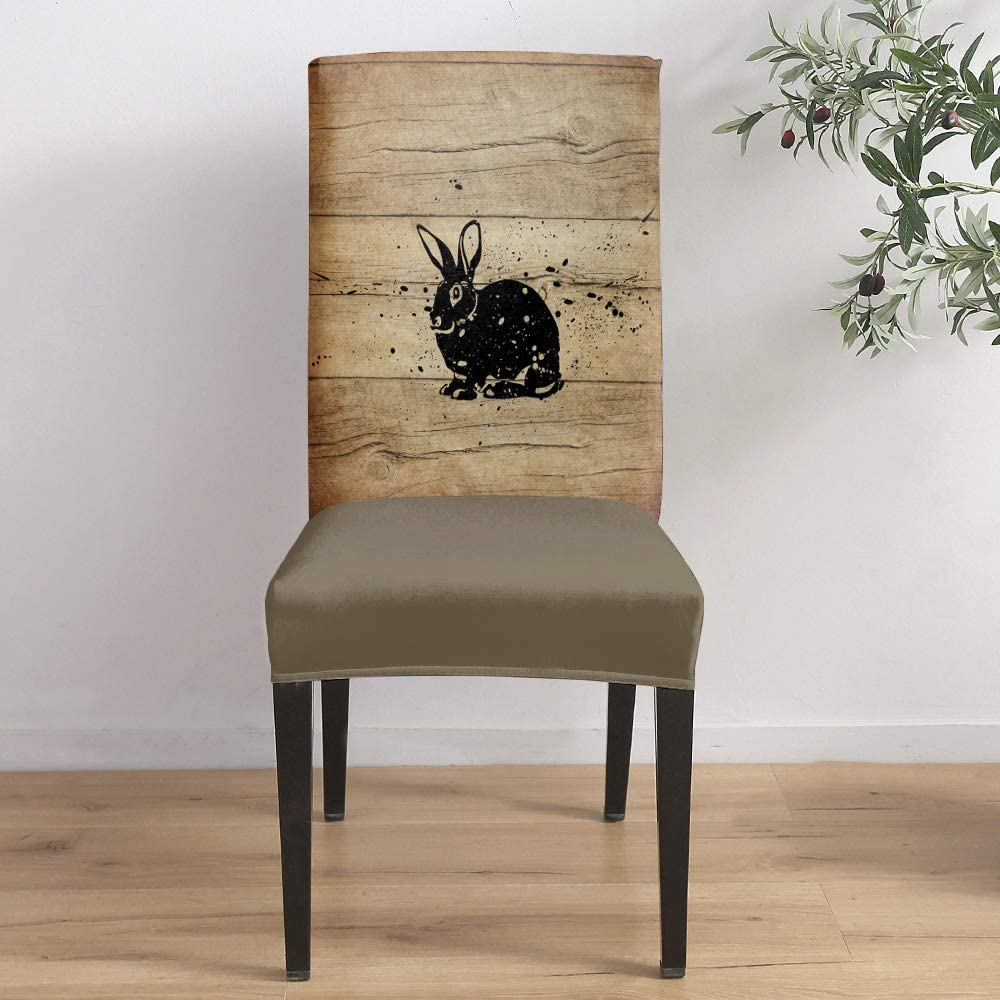Dining Room SEAL limited product Stretch Chair Cover Rabbit Co Slipcover Max 74% OFF Easter