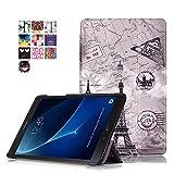 Skytar Funda para Galaxy Tab A6 10,1' T585N - Protección Carcasa Smart Cover Case de PU Cuero Stand Protectora para Samsung Galaxy Tab A6 10.1'' SM-T580N / SM-T585N Tablet,Torre de Vintage