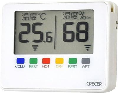 クレセル 温湿度計 デジタブルポータブル ホワイト CR-1500W