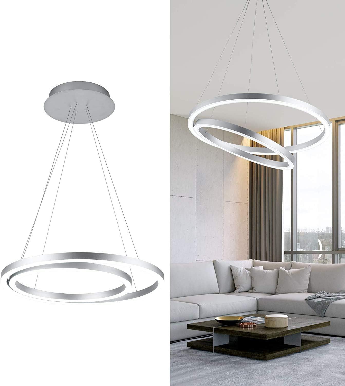 WELAKI LED Chandelier Modern LED Pendant Light 21 Rings Acrylic ...
