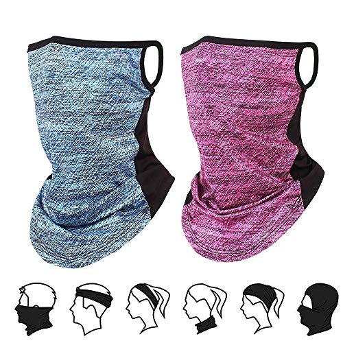 Mascarilla multifuncional para la cara de la bandana, lavable, reutilizable, de tela, para...