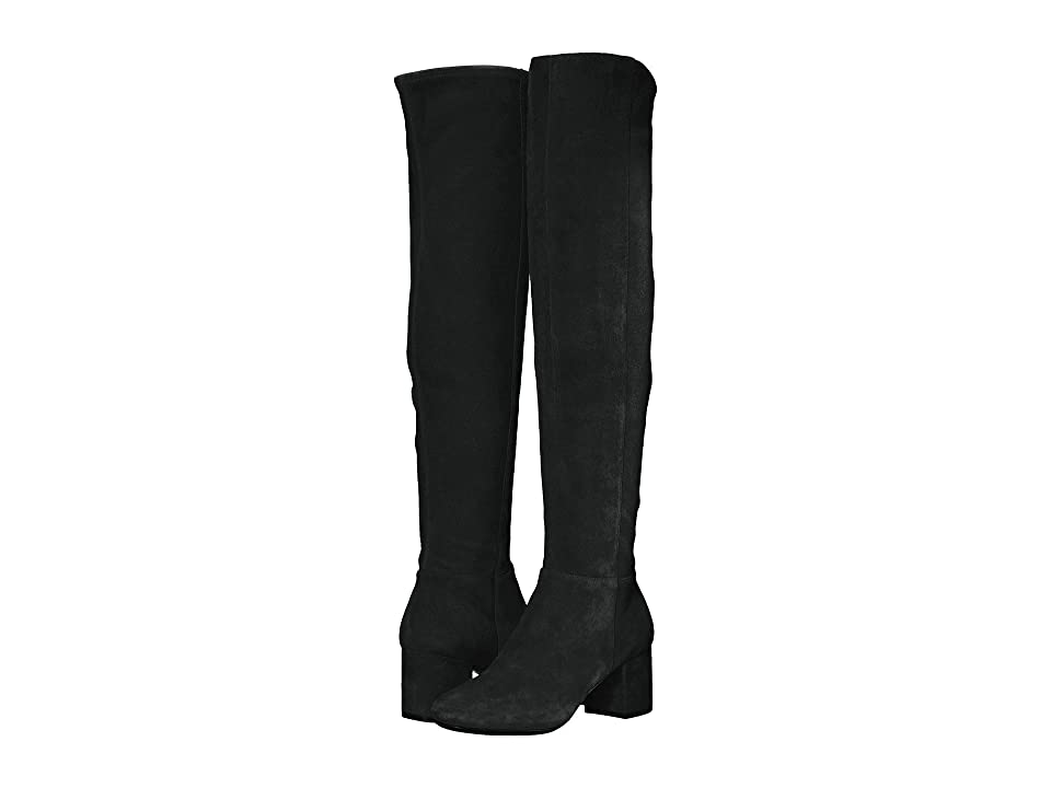 Cole Haan Elnora Over the Knee Boot (Black Suede) Women