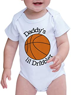 7 ate 9 Apparel Baby Boy's Daddy's Lil Dribbler Basketball Onepiece