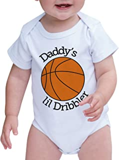 Baby Boy's Daddy's Lil Dribbler Basketball Onepiece
