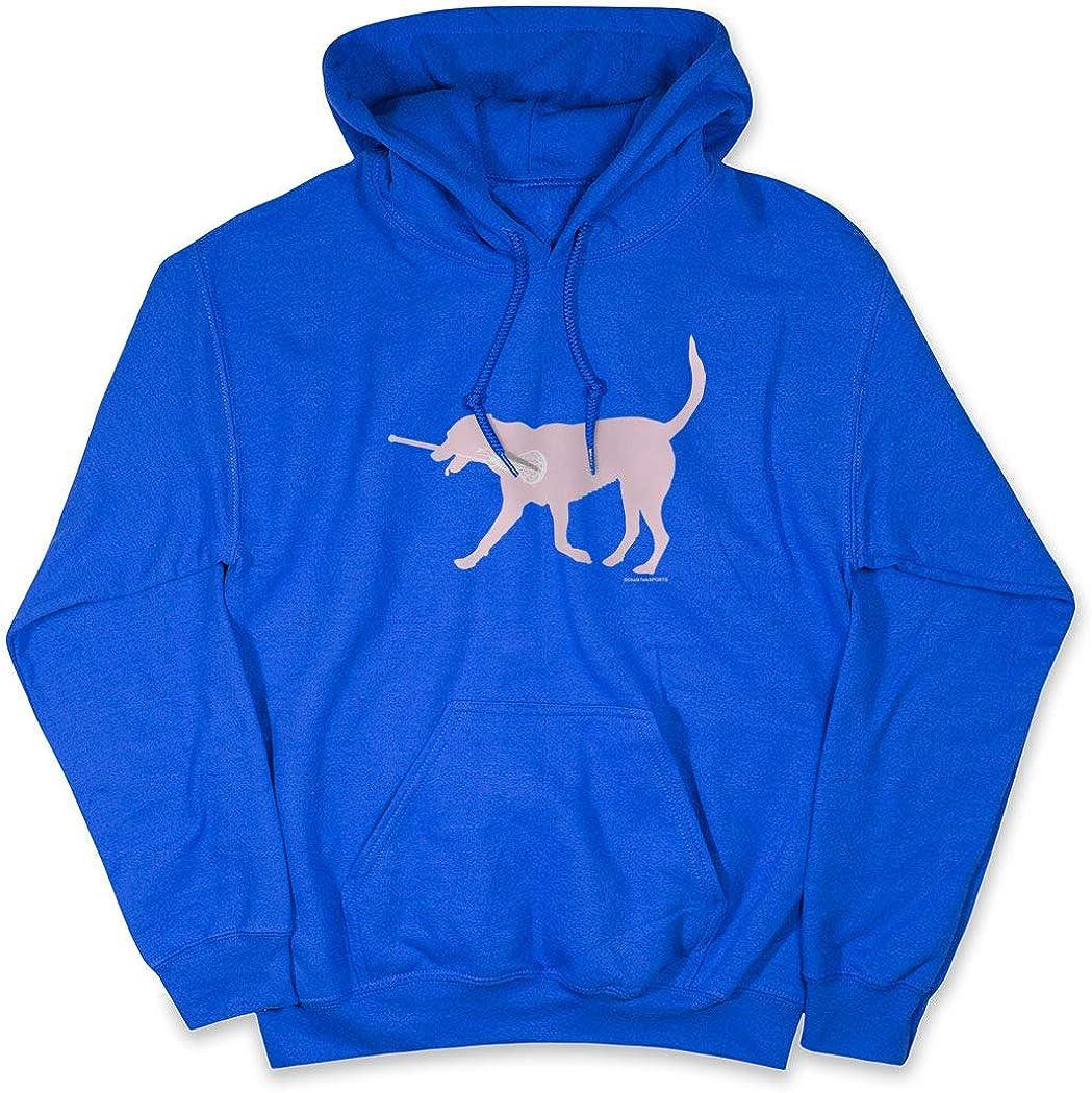 Girls 100% quality warranty! Great interest Lacrosse Hooded Sweatshirt LuLa Dog Pink Lax Adults The