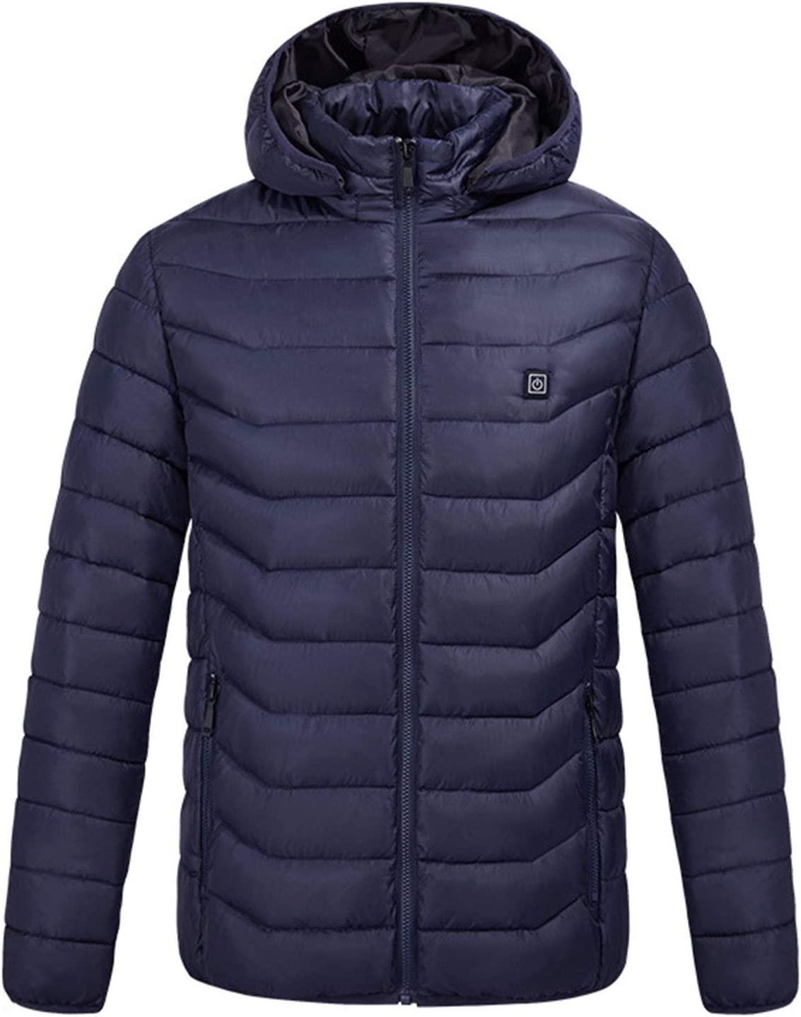 DALLL Heated Jacket Men's Electric Heated Jacket for Outdoor Work and Daily wear,Blue,L