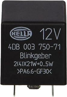 HELLA 4DB 003 750-711 Relé de intermitencia - 12V - 3polos - enchufado - electrónico