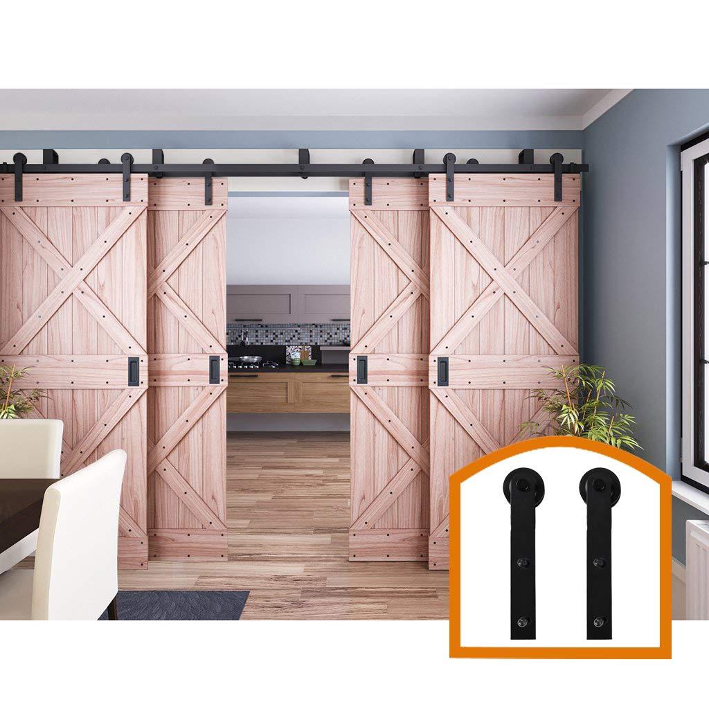 HomeDeco Hardware 10 FT, cuatro puertas correderas interior por Pass Barn Door Hardware estilo rústico para kit de madera.: Amazon.es: Bricolaje y herramientas